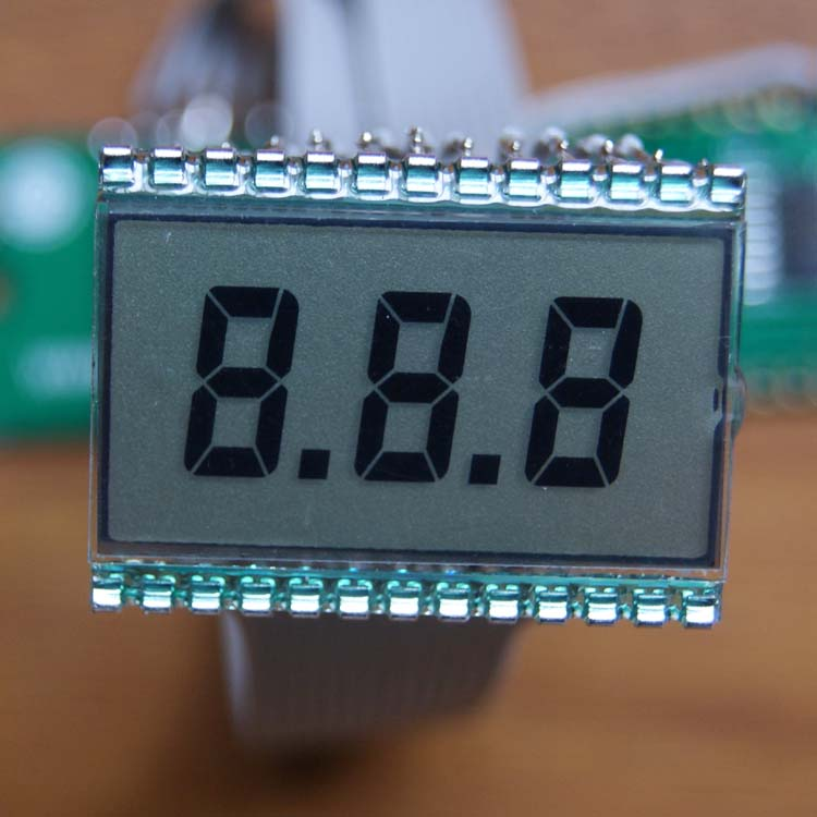 Pin type 1.3 inch 3 digit tn <strong>lcd</strong> small size seven segment meter display