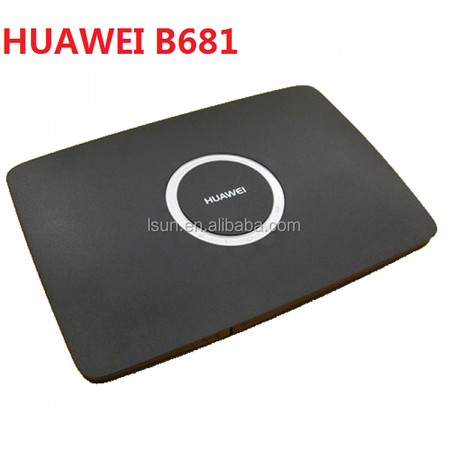 Brand new sbloccato 3G wireless Router CPE Huawei B681 wifi gateway con sim card slot e porta Lan