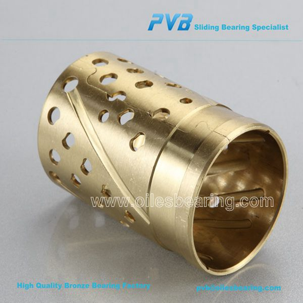 WB700 copper bearing, cylindrical oil pockets bushing, PRM758080 high-density bronze alloy Bush