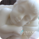 Stone Carving Marble Sculpture Sleeping Baby Nude Little Boy Garden Statue