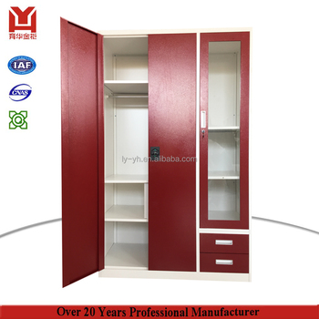 India style Almirah folding cloth modern 3 door clothes steel wardrobe for sale with safe  sc 1 st  Alibaba & India Style Almirah Folding Cloth Modern 3 Door Clothes Steel ...