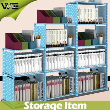 High Quality Non Woven Fabric Bookcase Diy Bookshelf Kids