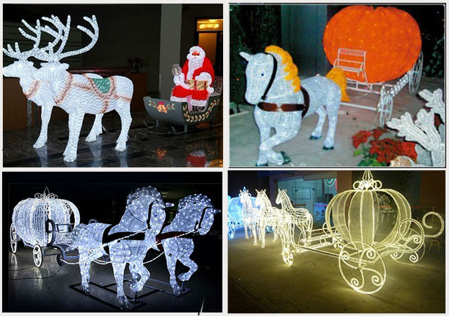 Outdoor Christmas Decorations Horse Carriage : Brand new outdoor christmas decoration horse carriage