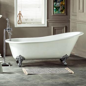Cast Iron Slipper Clawfoot Tub.Bathroom Fittings Clawfoot Tub Freestanding Cast Iron Slipper