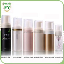 150ML/130ML/120ML/110ML/100ML/50ML 150ml PET Plastic Color Customized Foam Bottle For Facial Cleanser Packaging