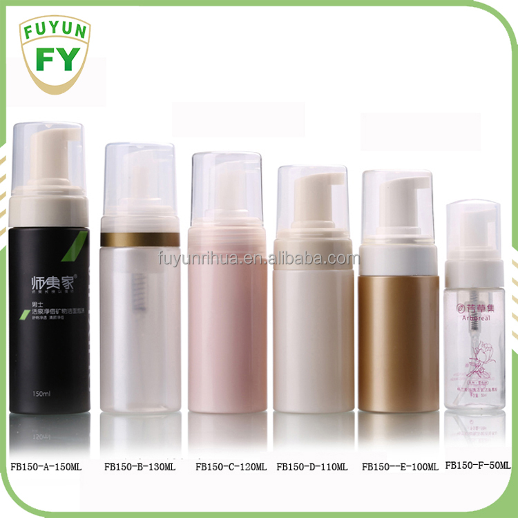PET Plastic Color Customized Soap Foam Pump Bottle For Facial Cleanser Packaging