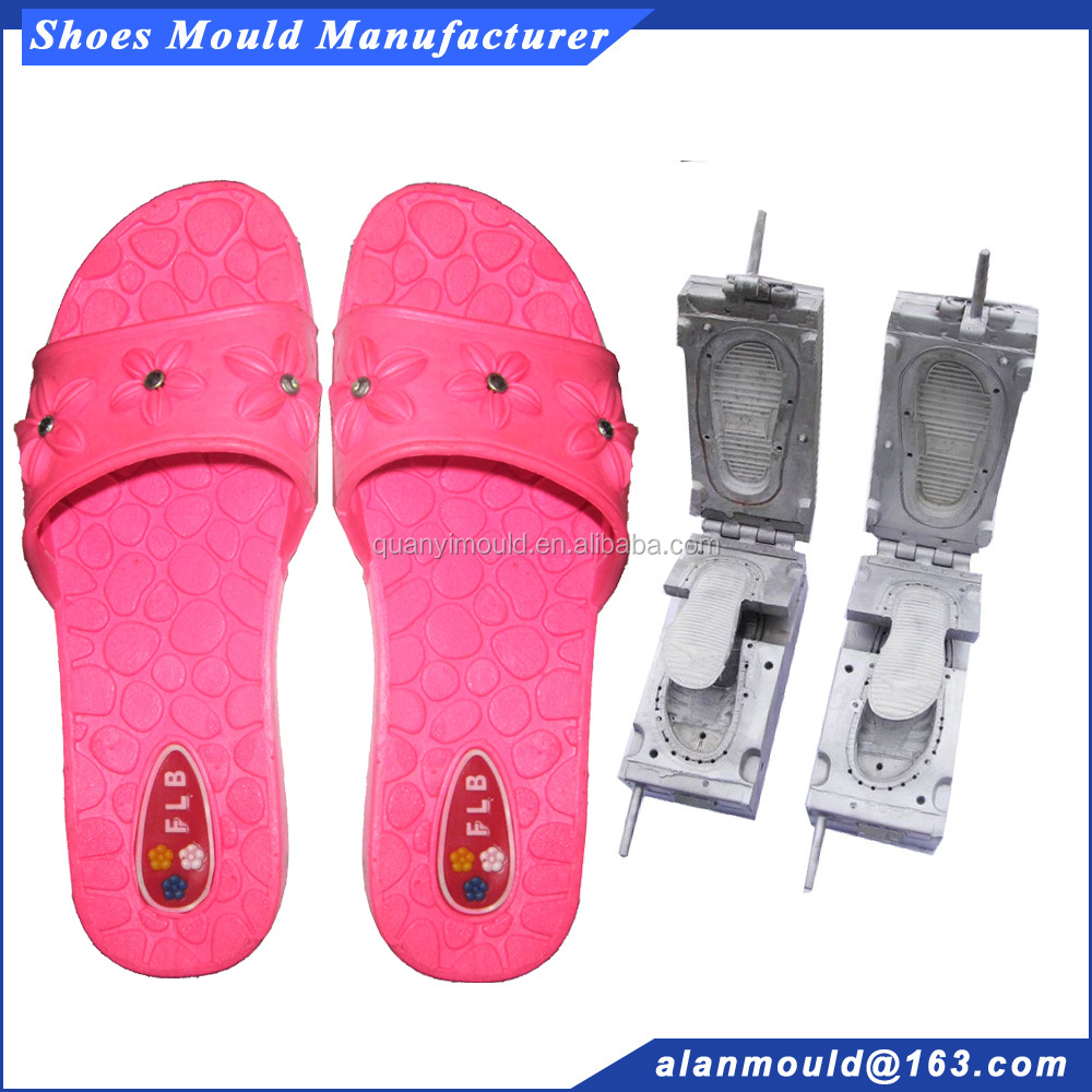 PVC flat one strap flower design slipper mould maker for girl