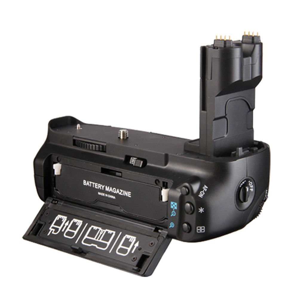 Pro Vertical Multi-Power Battery Grip Pack Holder for Canon 7D replace BG-E7