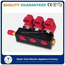 Car used cng/lpg injector common rail valtek type Top quality long work life common rail parts 3 cylinder Auto Injection rail