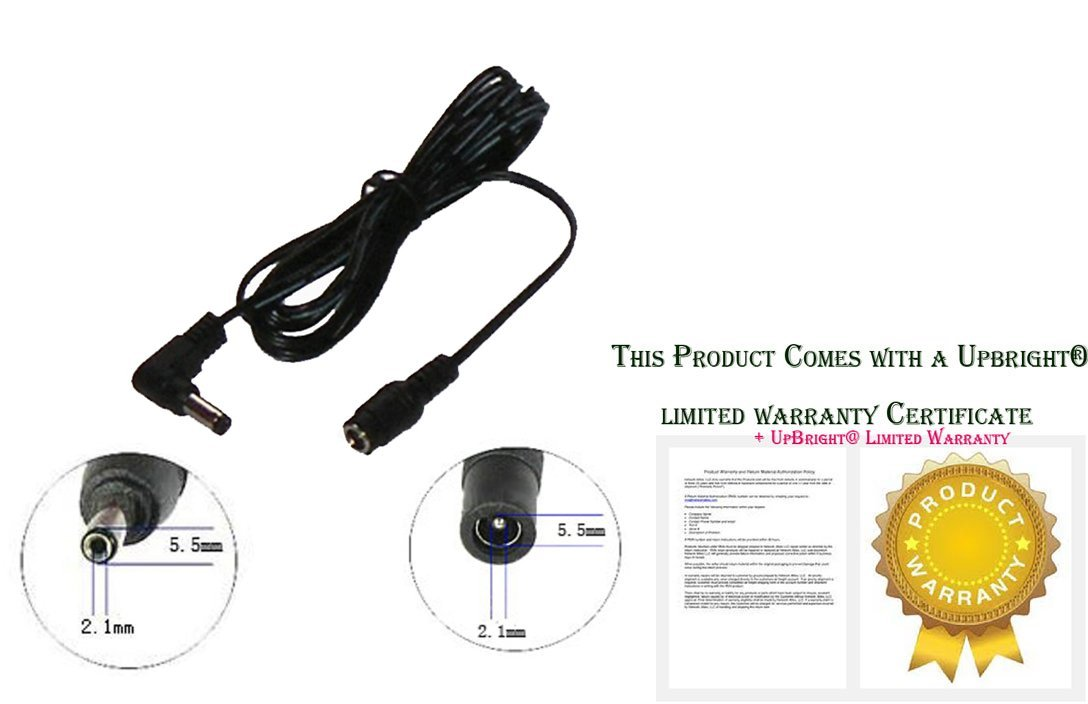 UpBright DC 18V 12V 9V 6V Barrel Plug Power Cable Approx 6ft (1.8m) AC Adapter Extender Extension Cord FemaleJack:5.5mmx2.1mmtoMalePlugEnd: OD: 5.5mm ID: 2.1mm