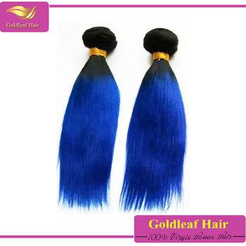 Ombre Blau Schwarze Haare Flechten Klasse 6a 100 Brasilianische Farbe Blau Haar Flechten Buy Blau Haarwebart Farbeblau Schwarz Haarwebartblau