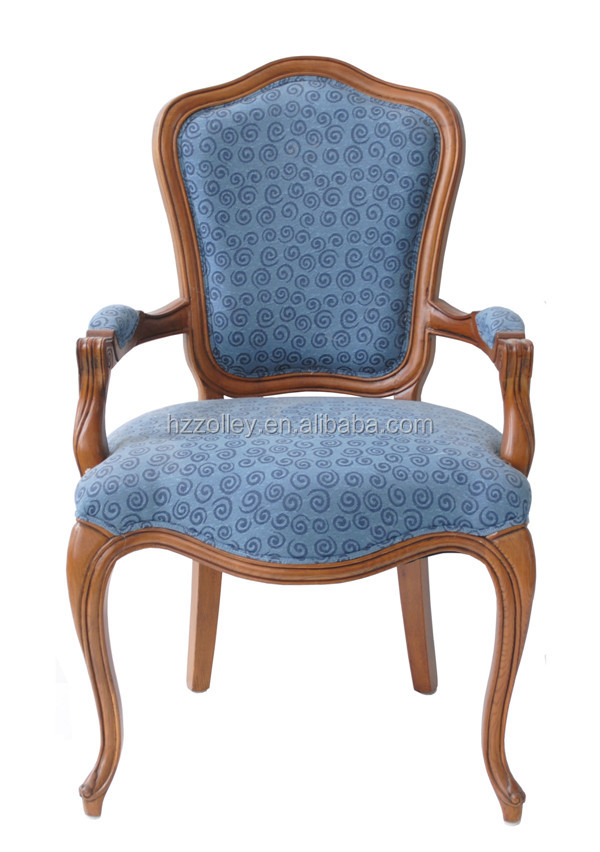 American Dining Room Chair Antique Wooden Fabric Chair