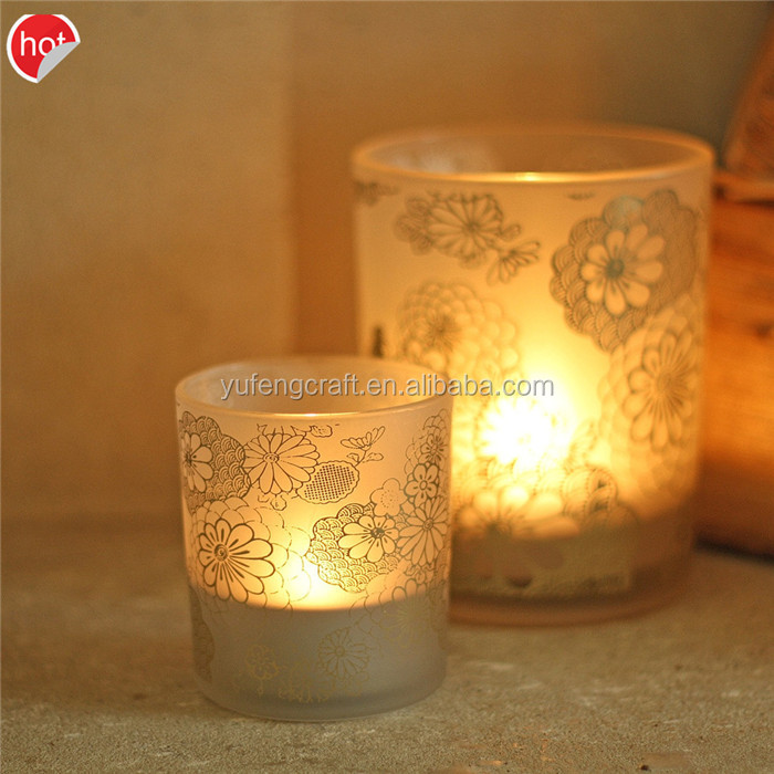 new products 2016 Matte Red Tealight Holder/ spray container candle holder wedding