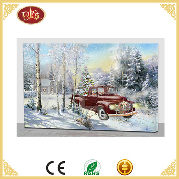 painting art oil painting christmas gift artist wall picture canvas forest