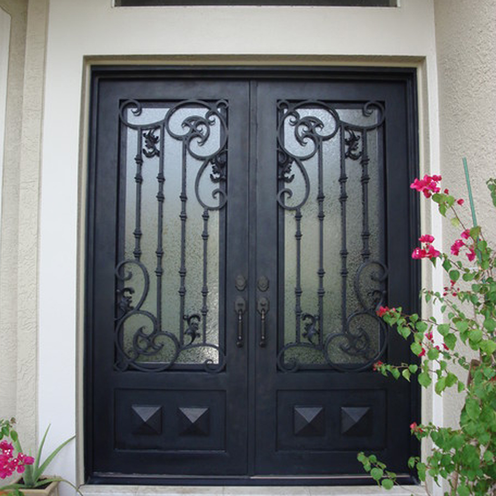 Direct Supply Interior Arch Top Double Wrought Iron Door With Lock - Buy Wrought Iron Double