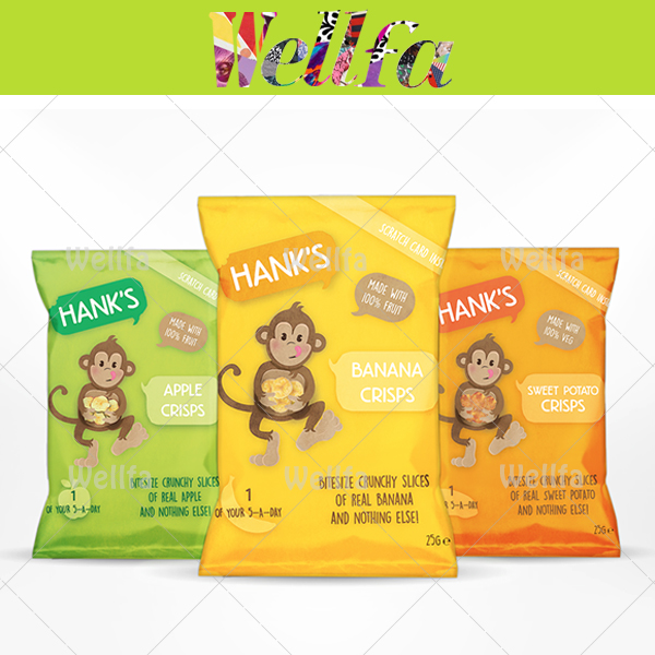 Fruit Chips Packaging Plastic Bag with Custom Printing/ Dried Fruit Chips Plastic Bag Manufacturer