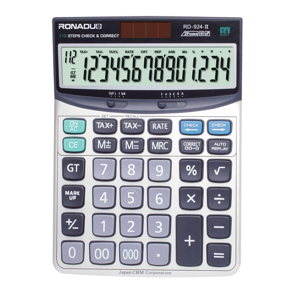 سعر الآلة الحاسبة أرقام rd-140vii 14 ضريبة حاسبة كبيرة الحجم سطح المكتب هدية