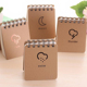 High quality spiral style kraft paper cover note book school notepad