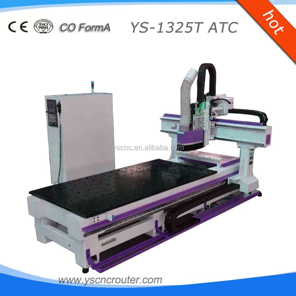 jinan itech high precision cnc woodworking machine 1325atc cnc router spindle rotating 180 degree