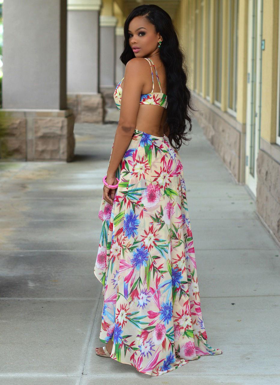 925ca0b4da5f Women Sexy Summer Off Shoulder Vintage Boho Long Maxi Evening Party Beach  Dress Floral Print Backless