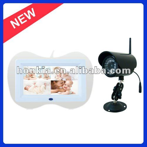 Wireless Baby Monitor with 7.0inch LCD, Supporting SD Card Recording