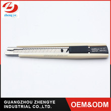 high quality profession Paper cutter knife 9mm camping Auto lock stainless steel blade utility knife
