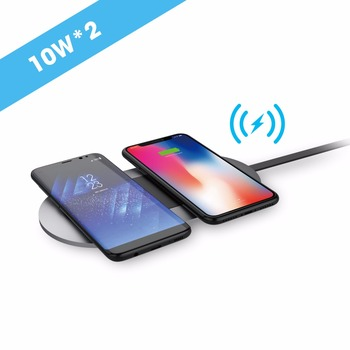 qi certified wireless charging pad for two device 20W