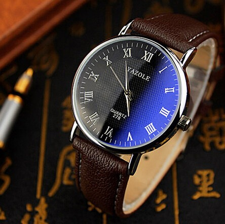 China factory blue face wrist watch fashion