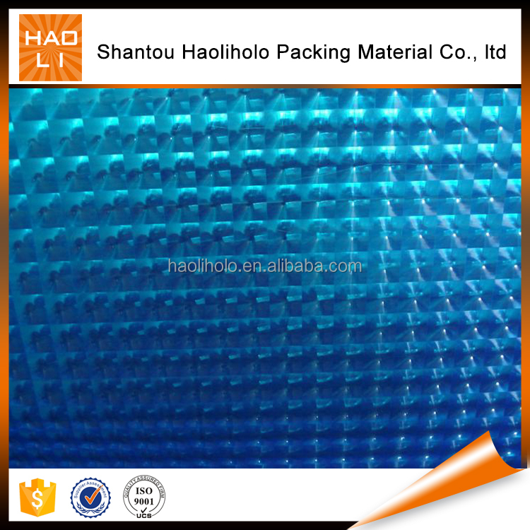 2016 Transparent Holographic PVC 3d laminating film for photo paper