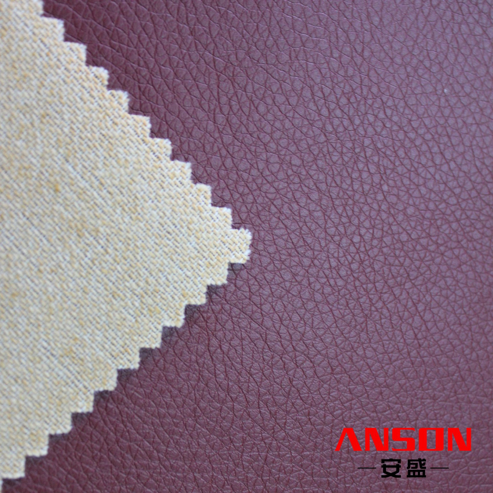 Sales promotion glossy PU synthetic leather upholstery