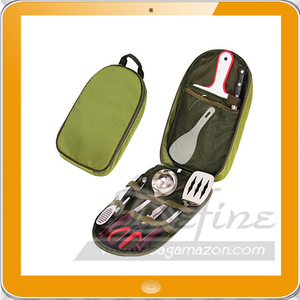 Portable Utensil BBQ Camp Kitchen Organizer Travel Cooking Set