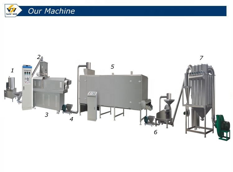 rice corn beans modified starch making machine