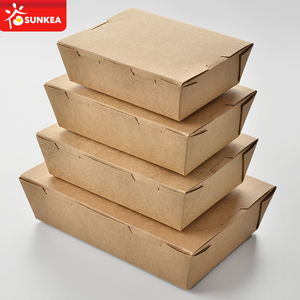 Sunkea produced disposable paper food catering boxes