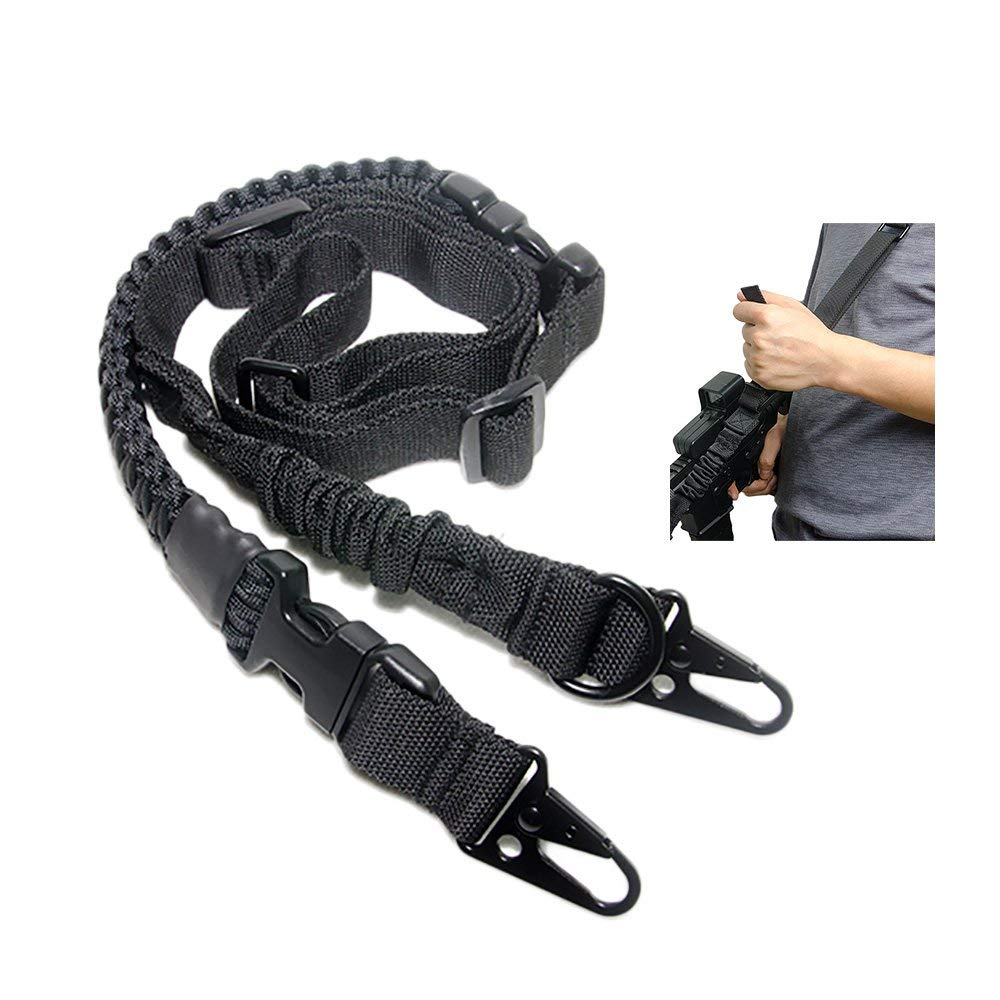 ba9f3a1a56 Get Quotations · 550 Paracord Gun Sling Rifle Sling 2 Point Sling Rifle  Strap Removable Paracord Survival Strap Metal