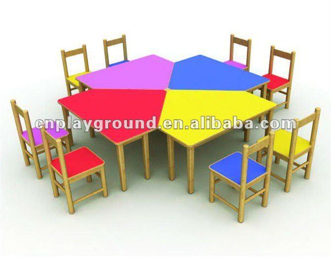 M11 07101 ce tuv certificado hermosa madera preescolar for Mesas y sillas para ninas