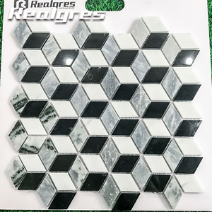 Round Carrara White Triangle Black Slab Marble Price In India Mosaic