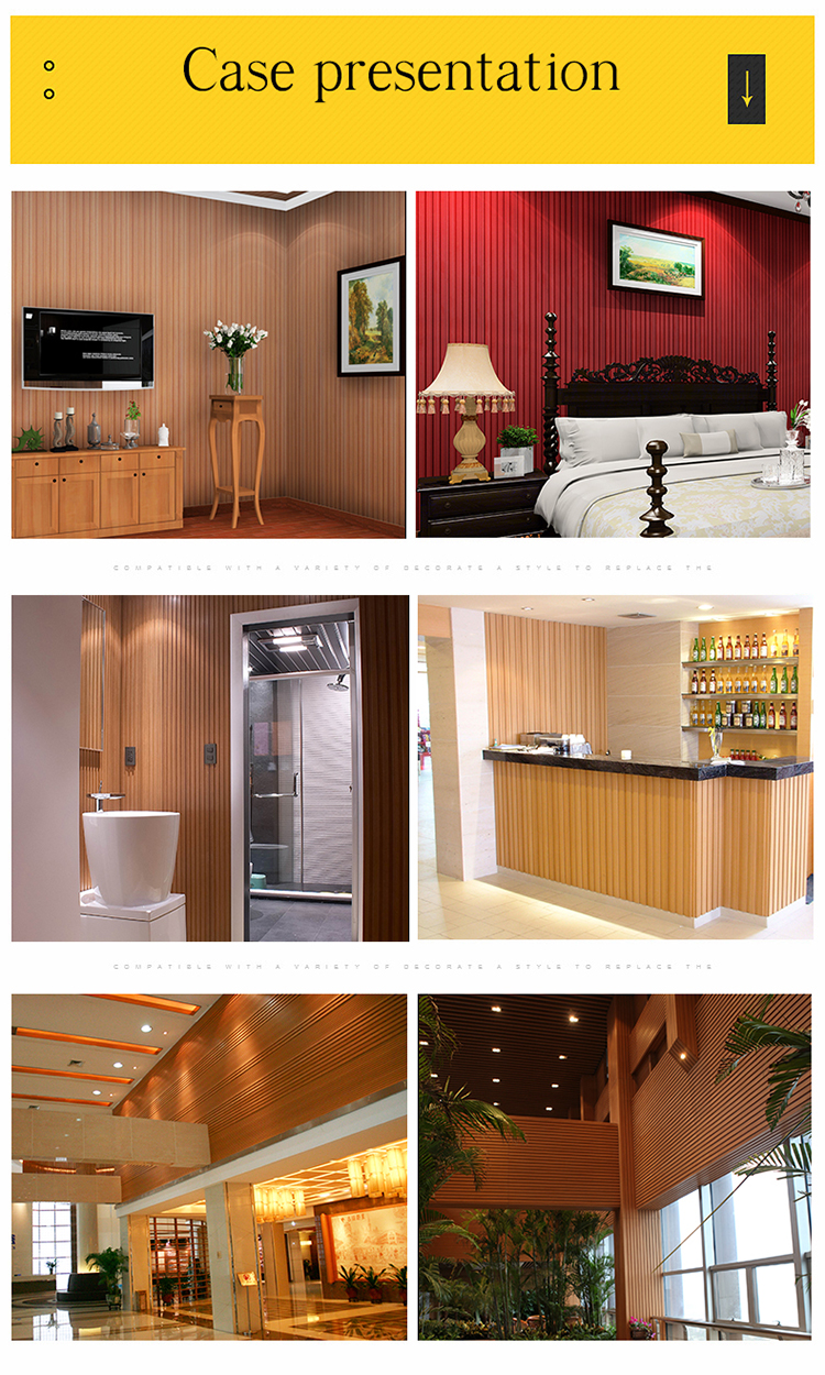 no toxic PVC wall panling wall decoration materials colored wpc wall panel