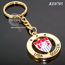 Football Metal Key Chain with Customized Logo