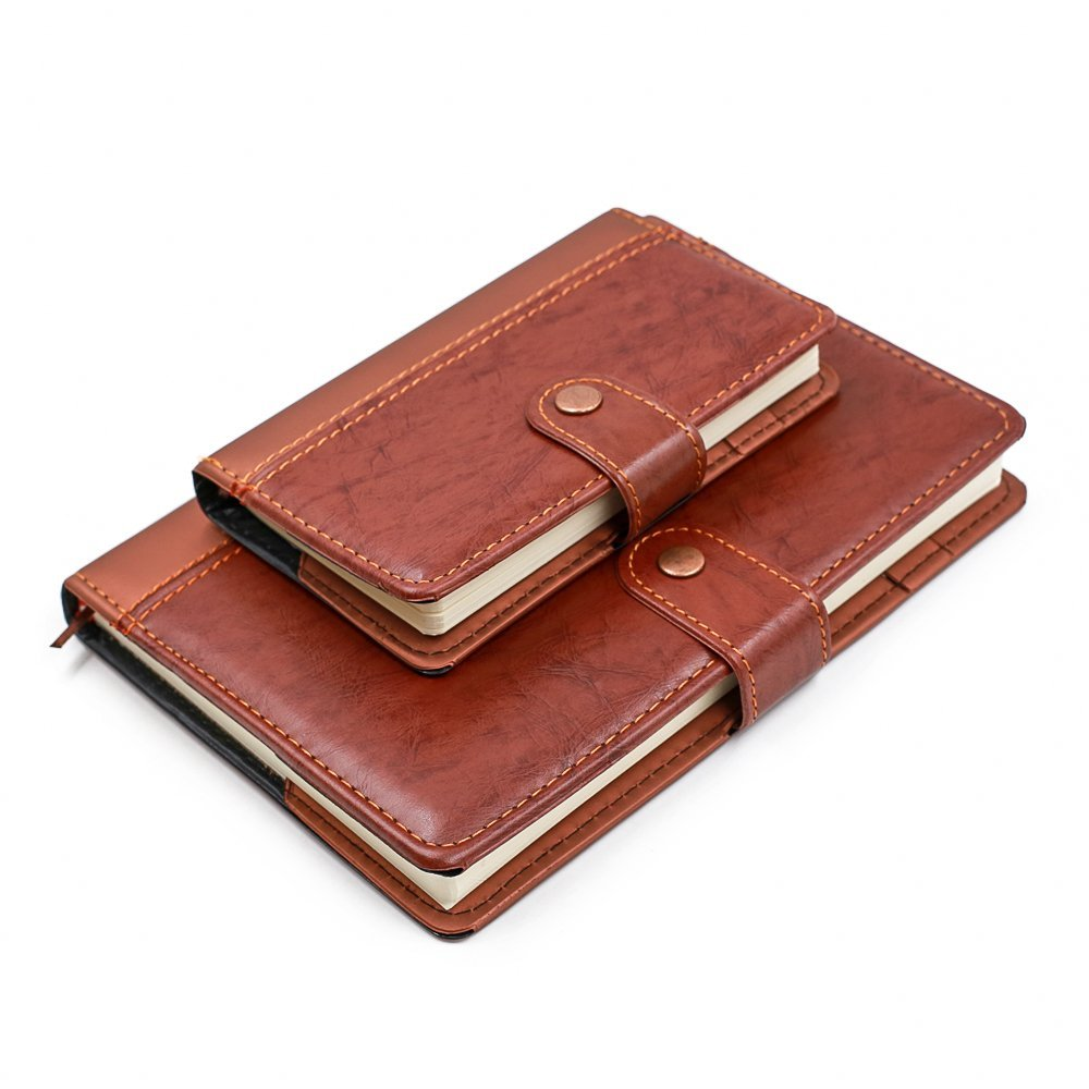 Ya Jin High-End Leather Cover Ruled A5/A6 Business Notebook Conference Meeting Memo Magnetic Buckle, A5 Size,