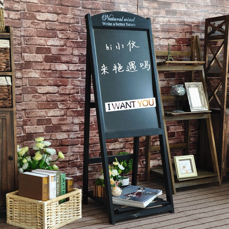 Restaurant Wooden Free Standing Blackboard With Stand