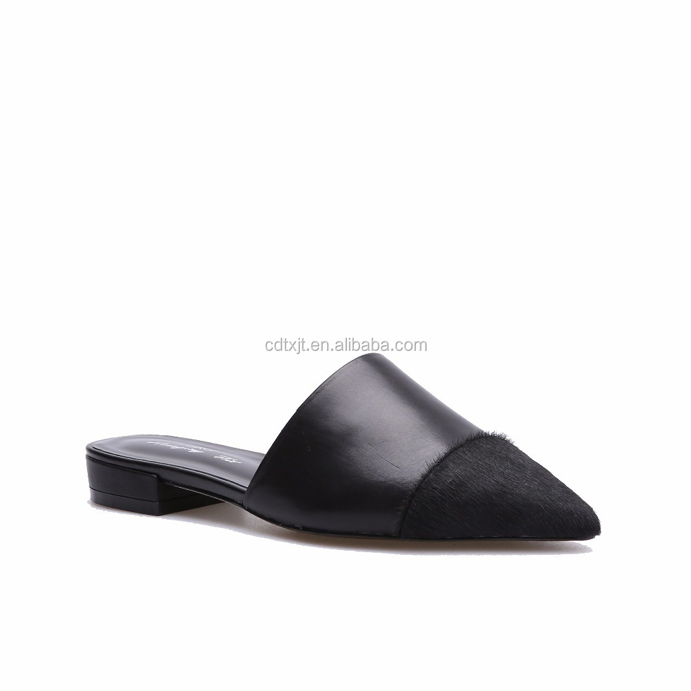 Wholesale Women Flat Shoes Genuine Leather Slip on Ladies Flat Shoes
