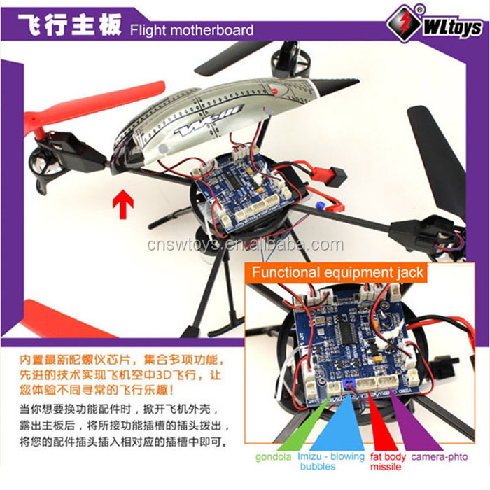 YK0806306 WL V979 Mini 2.4G 4CH RC Quadcopter Beetle Gyro With Fountain Water Jet Function V959 V949 V929 UFO Up Toy