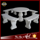 Fancy Natural Marble Garden Table Set For Europe