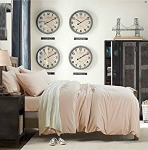 Minimalism Khaki Bedding Teen Bedding Kids Bedding Scandinavian Design Bedding Duvet Cover Set, Queen Size