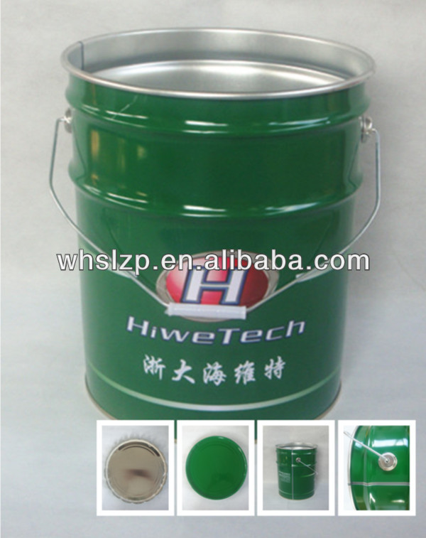 20L metal paint bucket with lid and metal handle