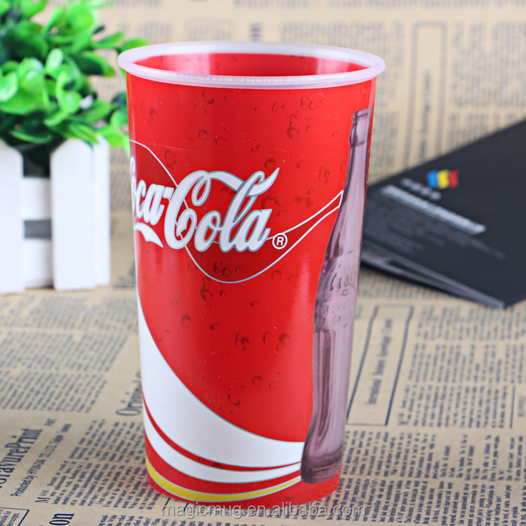2017 hot new products 600ml lenticular 3D plastic cup