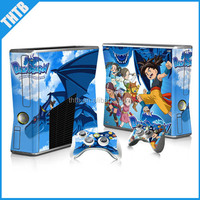 Game console sticker for xbox 360 slim console controller vinyl decal skin wholesale