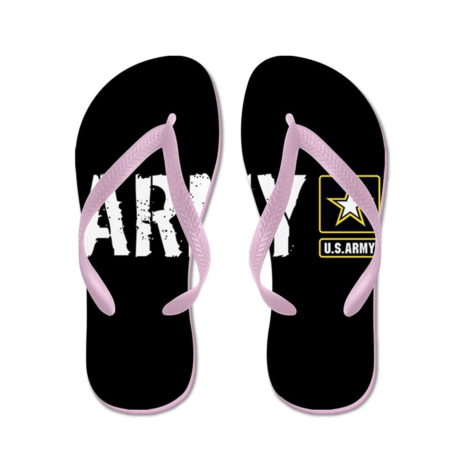 d2a3430200d Get Quotations · CafePress U.S. Army  Army (Black) - Flip Flops