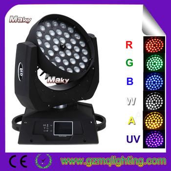 Guangzhou Rgb Packing Led Moving Head Wash Zoom 36x10w Rgbw 4in1 ...