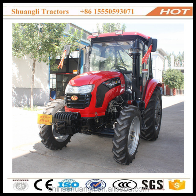 China cheap farm tractor 80hp 4wd with cab air conditioner for sale
